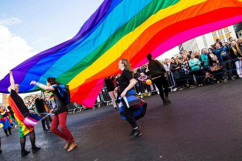 The Pride Parade last year in Reykjavik.