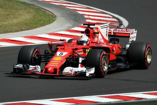 Sebastian Vettel á lokaæfingunni í Búdapest.