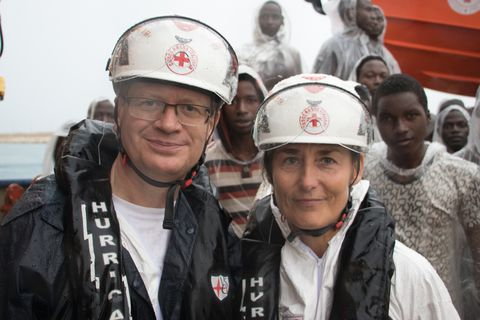 Þórir and Jóhanna were Red Cross representatives for Iceland in the Mediterranean.