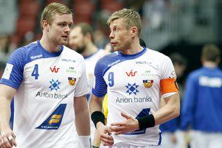 Aron Pálmarsson og Guðjón Valur Sigurðsson.