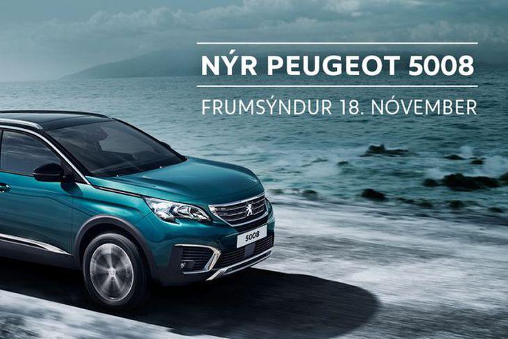 Brimborg frumsýnir Peugeot 5008 laugardaginn 18.nóvember.