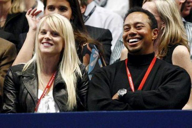 Hjónin Elin Nordegren og Tiger Woods meðan allt lék í lyndi.