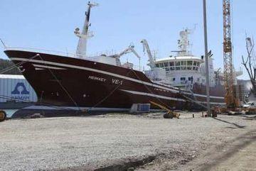 Heimaey VE 1, nýtt og fullkomið fiskiskip Ísfélags Vestmannaeyja,