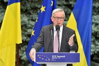 Jean-Claude Juncker flytur ræðu í Úkraínu fyrr í sumar.
