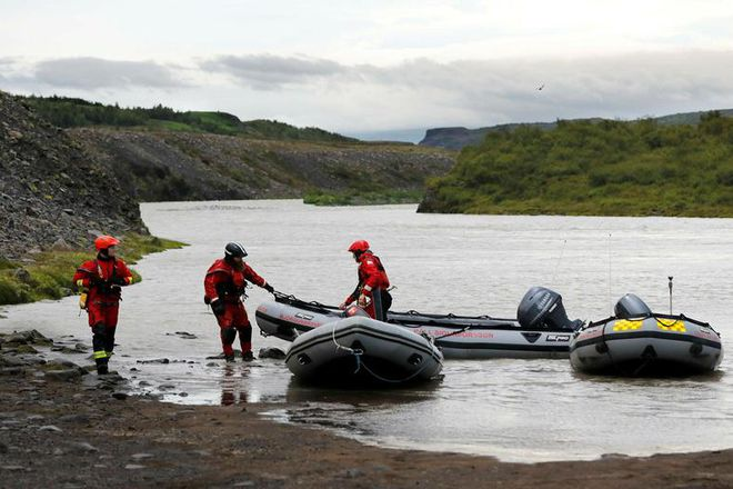 Search and rescue teams near the area where the body of Nika Begadze was found.