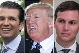 Donald Trump yngri, Donald Trump Bandaríkjaforseti og Jared Kushner.