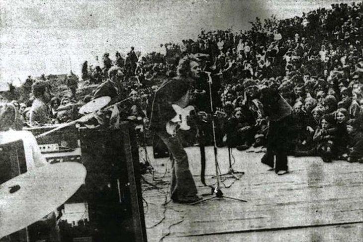 Trúbrot í Húsafelli verslunarmannahelgina 1969.