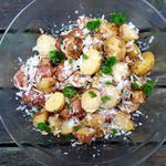 Parmesan kartöflur með hvítlaukssmjöri