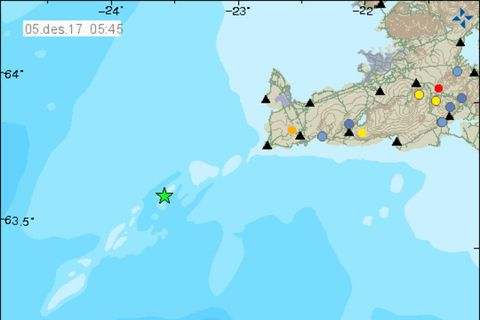 The star indicates where the largest earthquake occurred.