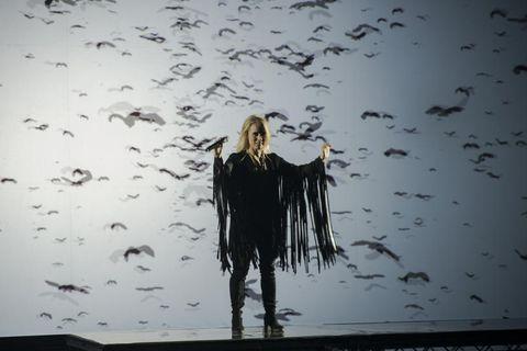Greta Salóme Stefánsdóttir performing her song.