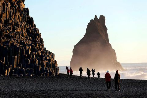 Reynisfjara Beach is a popular destination in South Iceland.