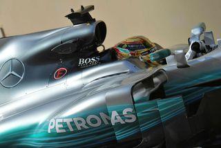 Lewis Hamilton á ferð í Abu Dhabi í dag.