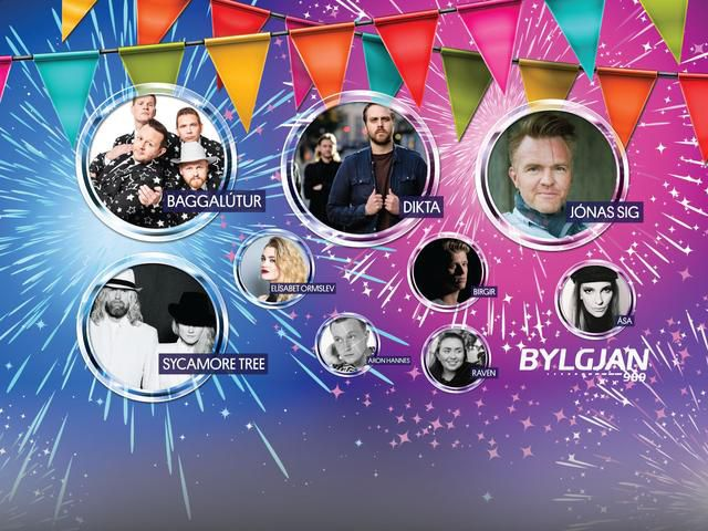 Garden party with Bylgjan, Iceland´s favourite radio station