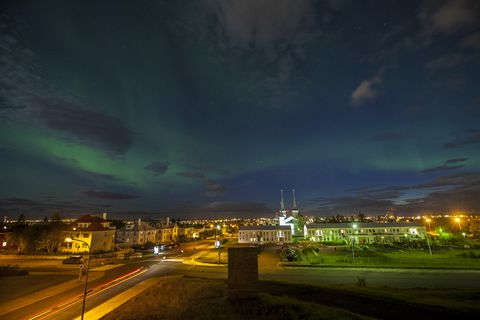 The streetlight in Reykjavik Centre will be turned off so people can enjoy the starry night.
