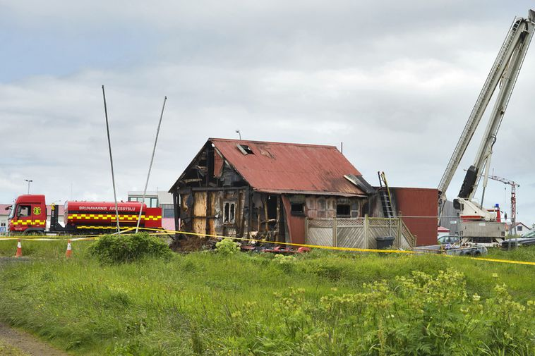 From the site of the fire this morning.
