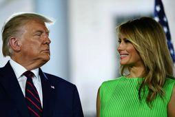 Donald og Melania Trump.