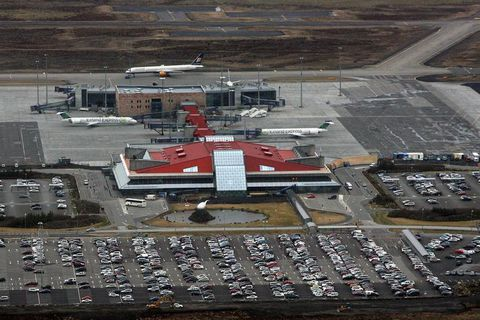The airport is three times bigger now than it was when built in 1987.