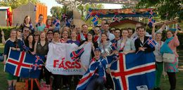 Members of the Icelandic Eurovision fan club at ESC 2013 in Sweden.