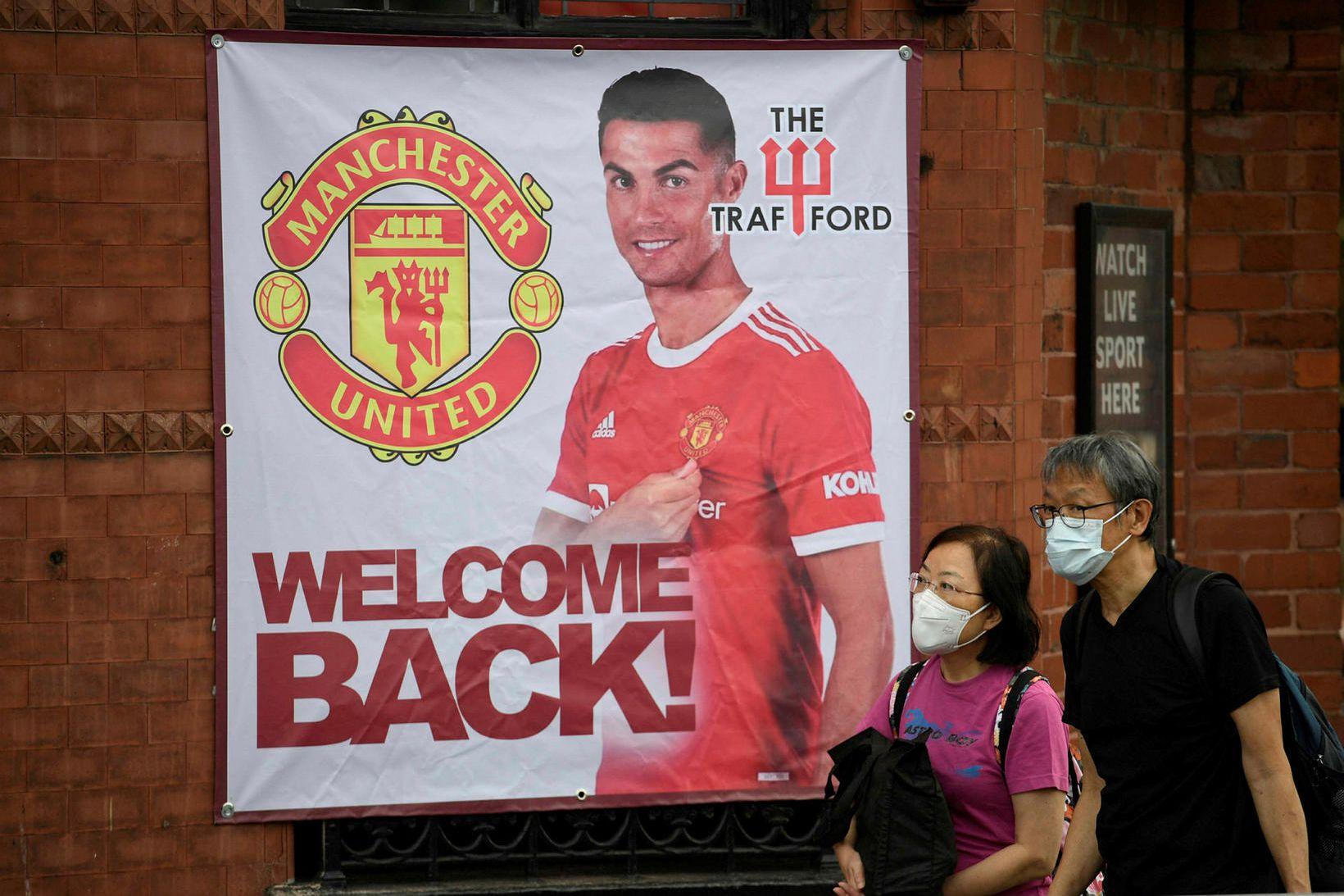 Cristiano Ronaldo mun taka þátt í leik Manchester United á …