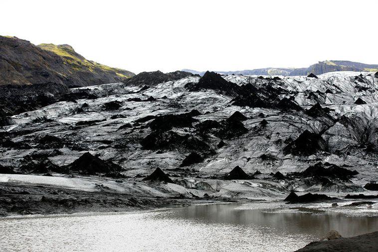 Jökulsporður í Sólheimajökli.