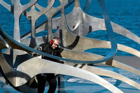 The Sun Voyager being cleaned.