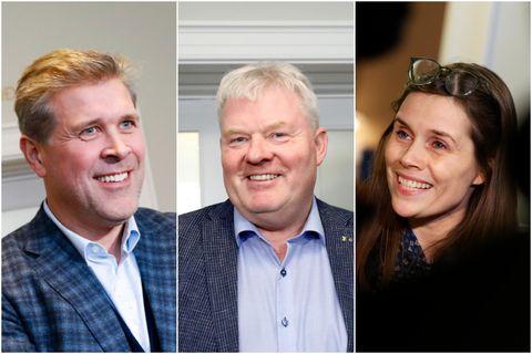 Bjarni Benediktsson, Sigurður Ingi Jóhannsson og Katrín Jakobsdóttir.