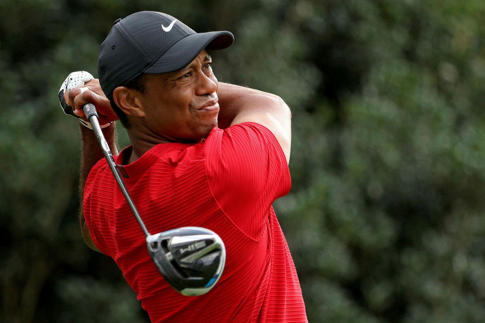 Tiger Woods keyrði allt of hratt.