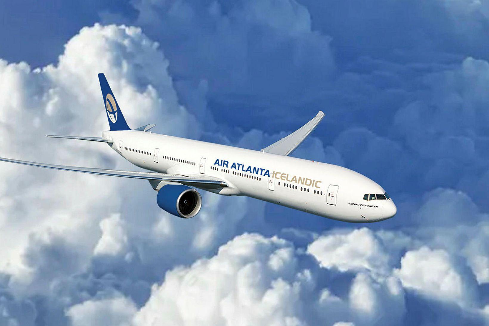 Atlanta leigir breiðþotur af gerðinni Boeing 777-300 af flugvélaleigufyrirtækinu GECAS.