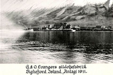 The Evanger herring processing plant in Siglufjörður, Northeast Iceland.