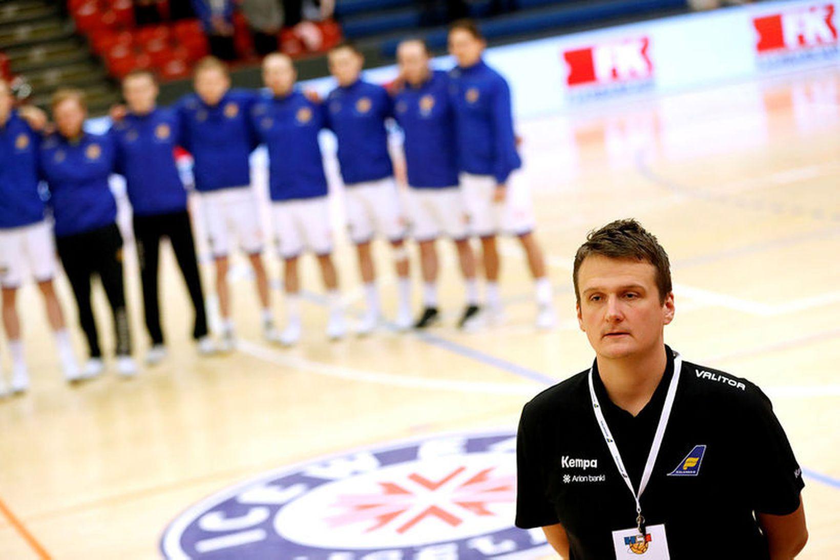 Einar Andri Einarsson þjálfari U21 árs landsliðsins.