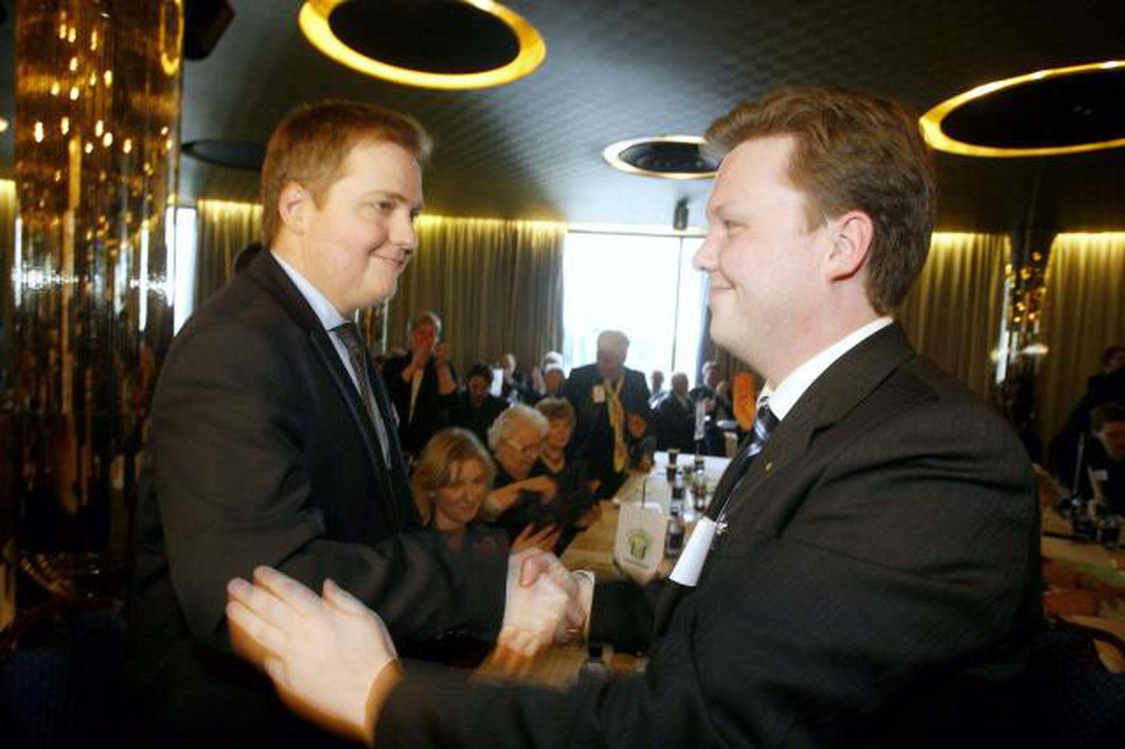 Sigmundur Davíð Gunnlaugsson og Birkir Jón Jónsson.