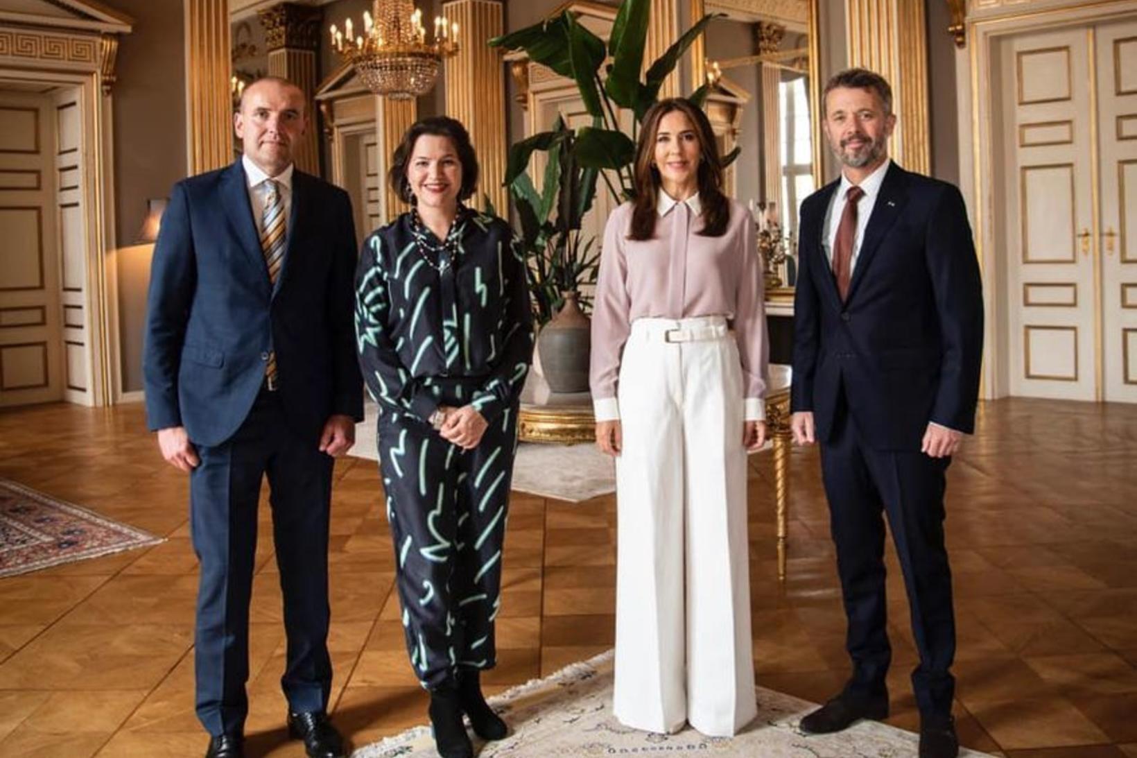 Guðni Th. Jóhannesson, Eliza Reid, Mary krónprinsessa og Friðrik krónprins …