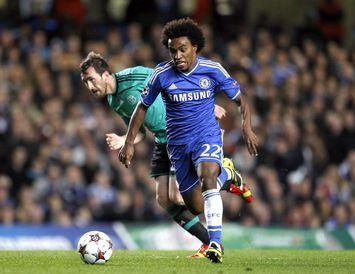 Willian í leik með Chelsea.