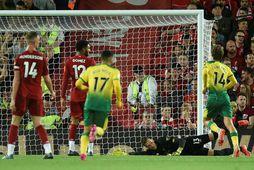 Liverpool og Norwich mættust einnig í 1. umferð fyrir tveimur árum.