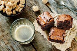 Mögulega bestu brownie-kökur í heimi.