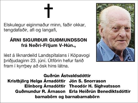 Árni Sigurður Guðmundsson
