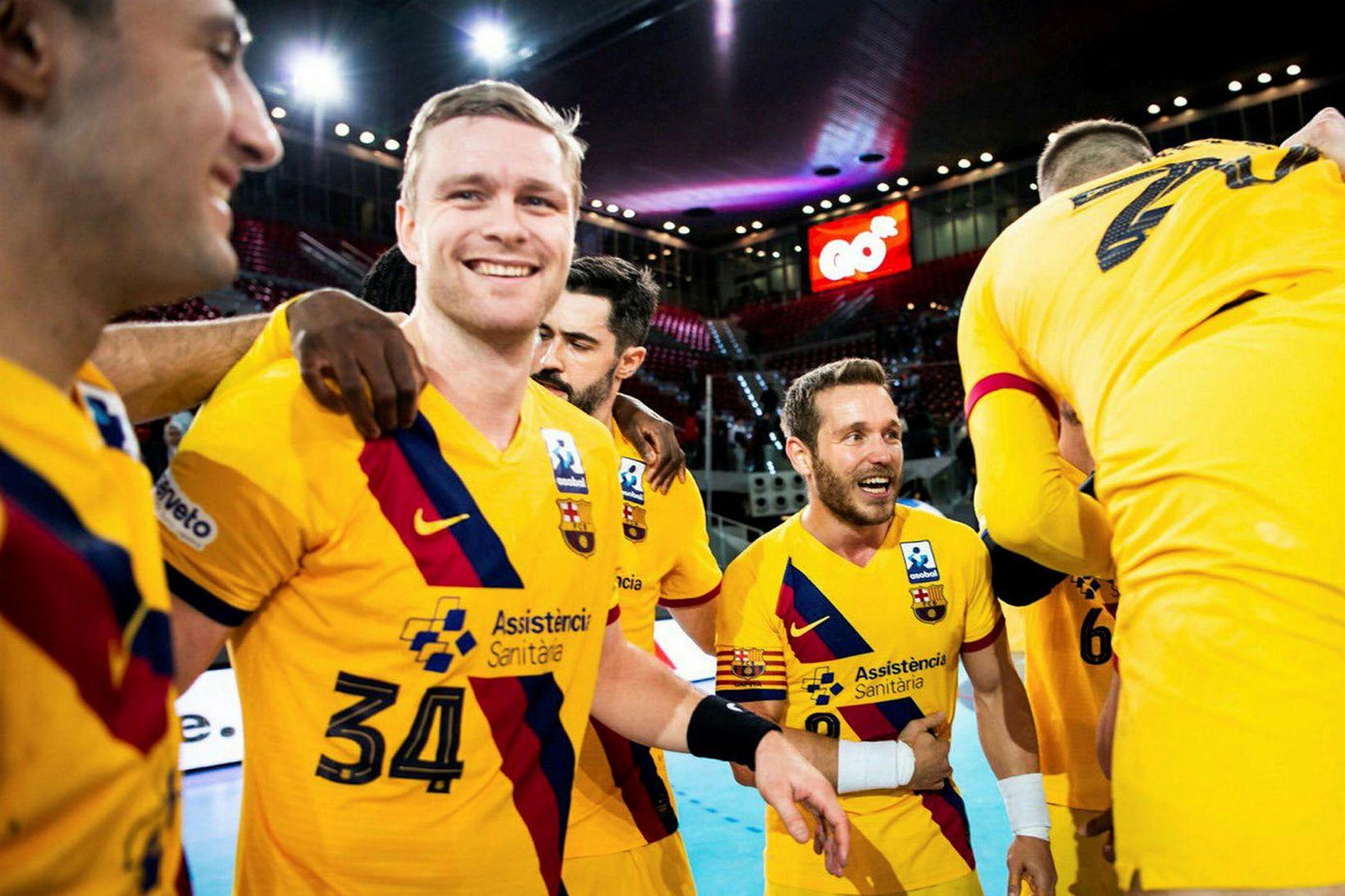 Aron Pálmarsson og liðsfélagar hans í Barcelona eru ríkjandi heimsmeistarar.