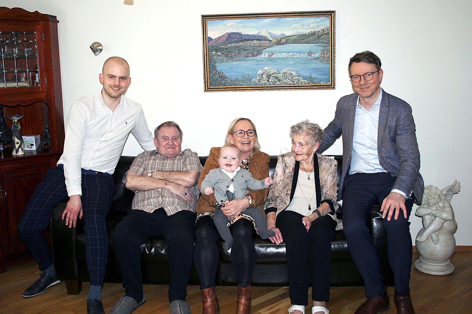 Á myndinni eru frá vinstri talið: Kristófer Máni Sigursveinsson, Stefán …