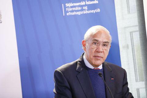 Angel Gurría, framkvæmdastjóri Efnahags- og framfarastofnunarinnar Evrópu, OECD.