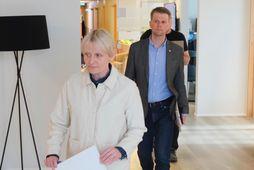 Sólveig Anna Jónsdóttir, formaður Eflingar. Viðar Þorsteinsson framkvæmdastjóri fyrir aftan.