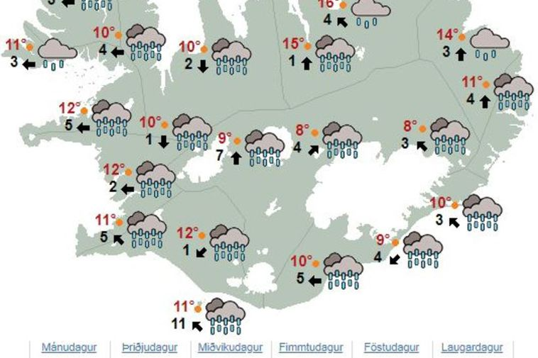 This is the weather for Friday- Rain, rain and more rain.