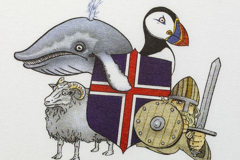 The puffin has suddenly become a symbol of Iceland, seemingly because tourists think it's cute.