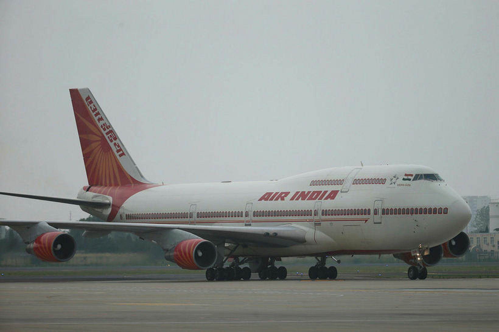 Ein af flugvélum Air India.