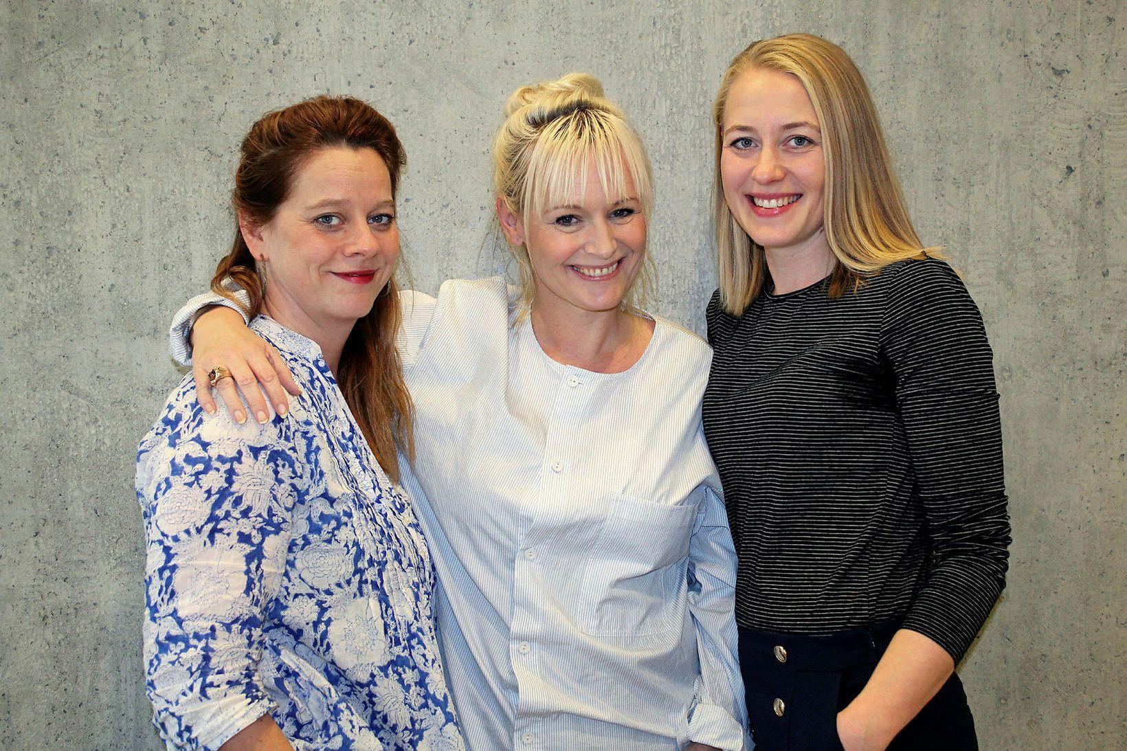 Sólveig Guðmundsdóttir, Nanna Kristín Magnúsdóttir og Sólveig Jónsdóttir eru á …
