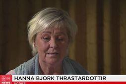 Hanna Björk Þrastardóttir, móðir Jóns Þrastar Jónssonar, biðlaði til almennings í sjónvarpsviðtali á Írlandi í …