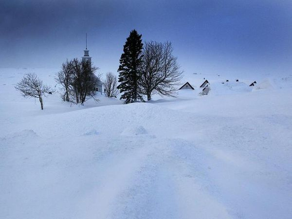 It's been snowing heavily in Iceland over the last couple of days.