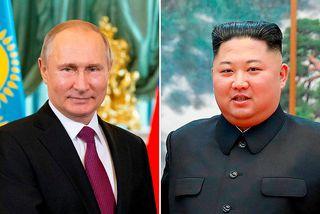 Vladimír Pútín Rússlandsforseti og Kim Jong-un, leiðtogi Norður-Kóreu, hittast á leiðtogafundi í Rússlandi á fimmtudaginn ...