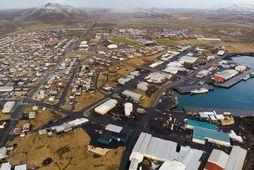 Horft yfir Grindavík.