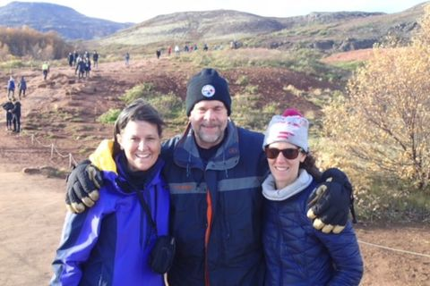 William Crawford with his two daughters, Bryce and Shannon on the morning of the terrible accident in Iceland.
