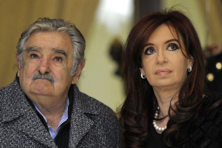Jose Mujica, forseti Úrúgvæ og Cristina Fernandez, forseti Argentínu.